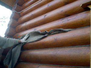 Чем конопатить сруб бани из бревна