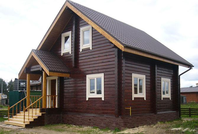 небольшой дом из бруса фото