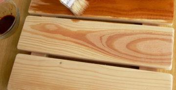 Фото: Обработка льняным маслом