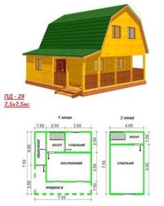 Картинка: Планировка дома из бруса