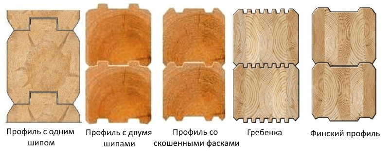 Фото: виды профилей бруса