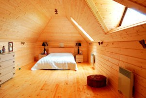 Фото: Интерьер дома с имитацией бруса
