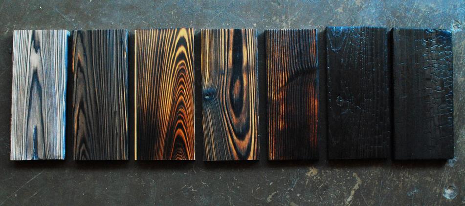 Фото: технологии японской обработка древесины - виды придаваемой текстуры