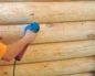 Фото: Шлифовка бревенчатого дома