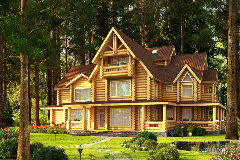 самые красивые дома из дерева фото открывает этот раздел