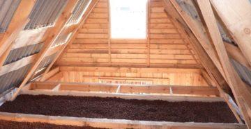 фото: Утепление потолка деревянного дома
