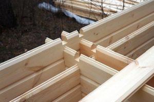 Фото: Применение двойного бруса для строительства домов