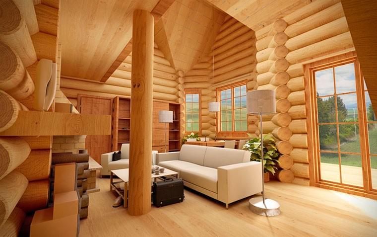 фото: Вариант внутренней отделки дома