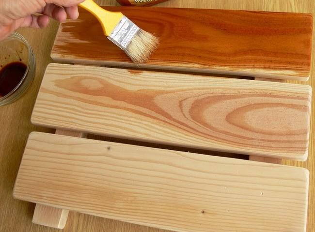 Фото: Пропитка дерева льняным маслом
