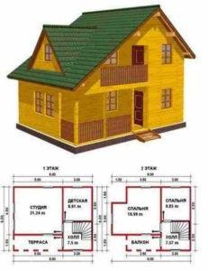Картинка: Проект дома для небольшой семьи