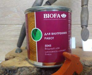 Фото: Лак biofa для внутренних работ